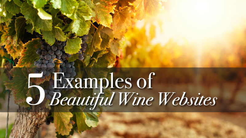 5 Examples of Beautiful Wine Websites